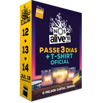 Fã Pack Fnac NOS Alive 2018 - Passe 3 Dias: Homem T-Shirt M + CP Cascais