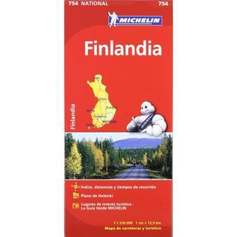 Mapa Michelin Finlandia - 754