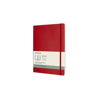 Agenda Semanal 12 Meses 2020 Moleskine XL Soft Vermelha