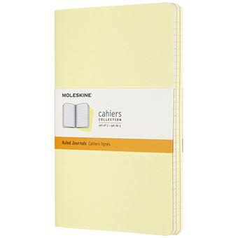 Caderno Pautado Moleskine Grande Set de 3 - Amarelo Tender