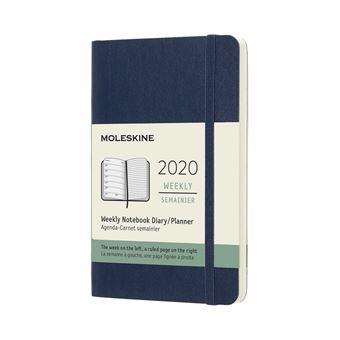 Agenda Semanal 12 Meses 2020 Moleskine Bolso Soft Azul
