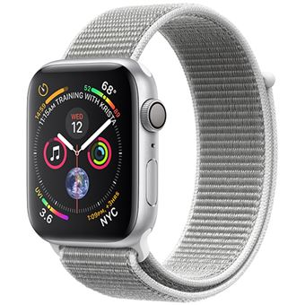 Apple Watch Series 4 40mm - Alumínio Prateado | Bracelete Loop Desportiva - Branco