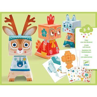 Bonecos Papel - Animais - Djeco
