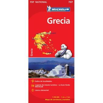 Mapa Michelin Nacional 737 -Grécia