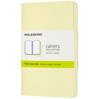 Caderno Liso Moleskine de Bolso Set de 3 - Amarelo Tender