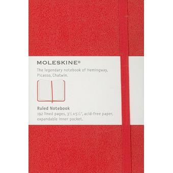 Moleskine: Caderno Pautado Bolso Vermelho