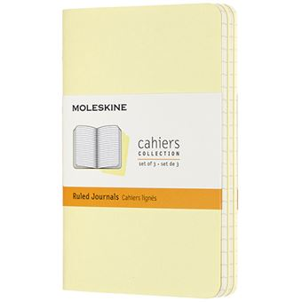 Caderno de Bolso Pautado Set de 3 - Amarelo Tender
