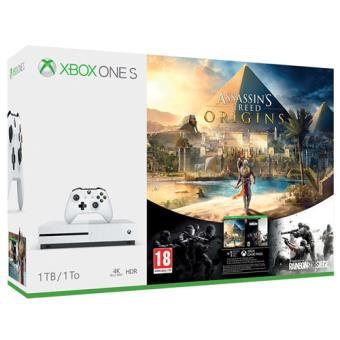Consola Microsoft Xbox One S 1TB + Assassin's Creed Origins + Tom Clancy's Rainbow Six Siege