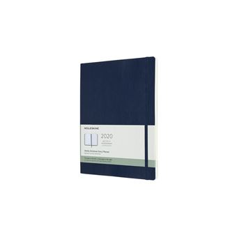 Agenda Semanal 12 Meses 2020 Moleskine XL Soft Azul