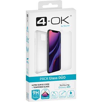 Capa + Película Ecrã Vidro Temperado 4-OK para Galaxy A31