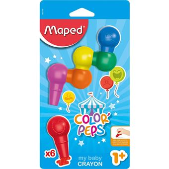 Lápis de Cera Maped Color'Peps My Baby - 6 Unidades