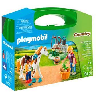 Playmobil Country 9100 Maleta Grande Cuidado para os Cuidados de Cavalos