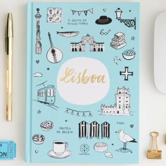 Caderno Liso Lovely Streets - Lisboa A5