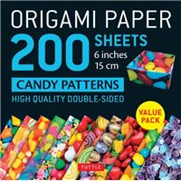 Origami paper 200 sheets candy patt