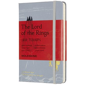 Caderno de Bolso Pautado Moleskine - Cinza: The Lord of the Rings
