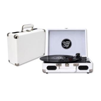 Vinyl Styl Groove Portable 3 Speed Turntable (White)