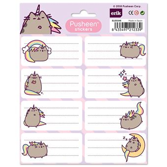 Etiquetas Escolares Pusheen, the Cat - 16 Unidades