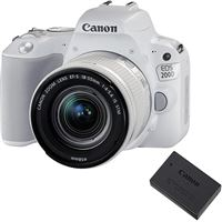 Canon EOS 200D + EF-S 18-55mm f/4-5.6 IS STM - Branco + Bateria