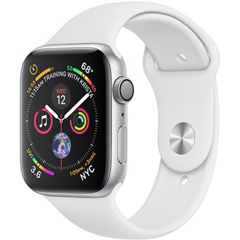 Apple Watch Series 4 44mm - Alumínio Prateado | Bracelete Desportiva - Branco
