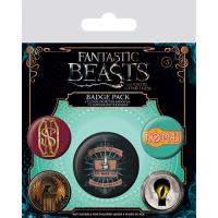 Fantastic Beasts and Where to Find Them - Pack 5 Crachás