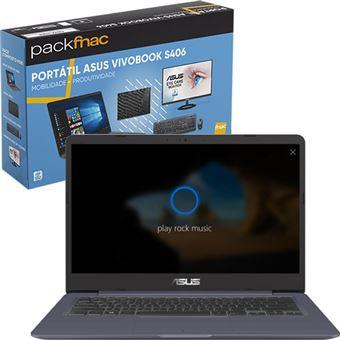 Pack Fnac Asus VivoBook S406UA-58CHDCB1 + Sleeve + Rato e Teclado + Monitor