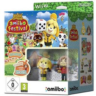 Animal Crossing Amiibo Festival Wii U + 2 Amiibo + 3 Amiibo Card