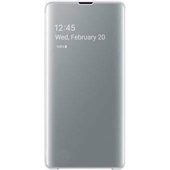 Capa Samsung Clear View para Galaxy S10+ - Branco