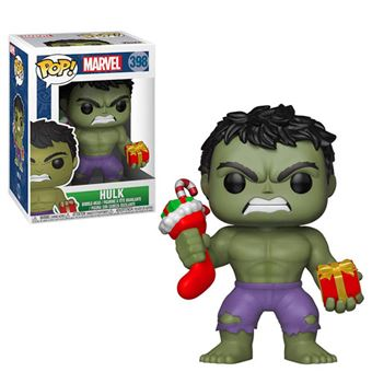 Funko Pop! Marvel: Holiday Hulk with Stocking and Plush - 398