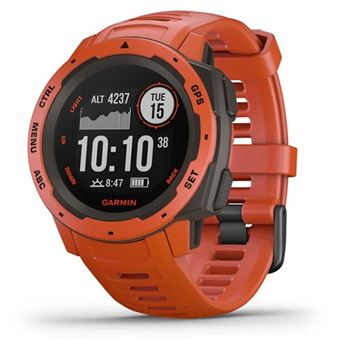 Relógio Desporto Garmin Instinct - Vermelho Fogo