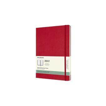 Agenda Semanal 18 Meses 2020-2021 Moleskine XL Vermelha