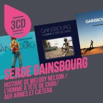 3CD Originaux: Histoire De Melody Nelson / L'Homme A Tête De Choux / Aux Armes Et Caetera (3CD)