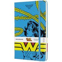 Caderno Pautado Moleskine Grande - Azul: Wonder Woman