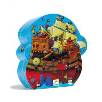 Puzzle Silhueta Barco do Barba Roxa - 54 Peças