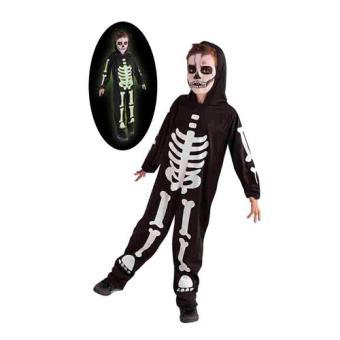 Disfarce Esqueleto Fluorescente | Tamanho M (5-6 Anos)