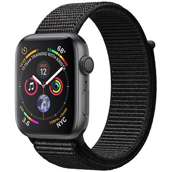 Apple Watch Series 4 44mm - Alumínio Cinzento | Bracelete Loop Desportiva - Preto
