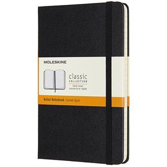 Caderno Pautado Moleskine Médio - Preto
