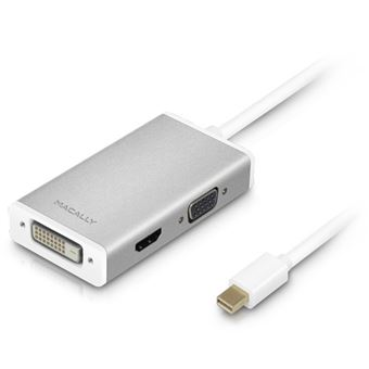 Hub Mini DisplayPort Macally MD 3 em 1 - 4K