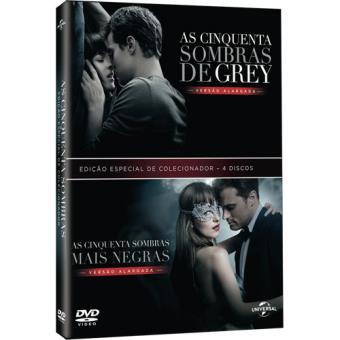 Pack As Cinquenta Sombras de Grey + As Cinquentas Sombras Mais Negras - Edição Especial Digibook - DVD