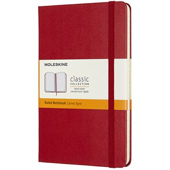 Caderno Pautado Moleskine Médio - Vermelho