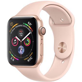 Apple Watch Series 4 44mm - Alumínio Dourado | Bracelete Desportiva - Rosa Areia