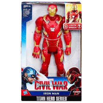 Figura Marvel Titan Eletrónica Iron Man Civil War 30cm Hasbro