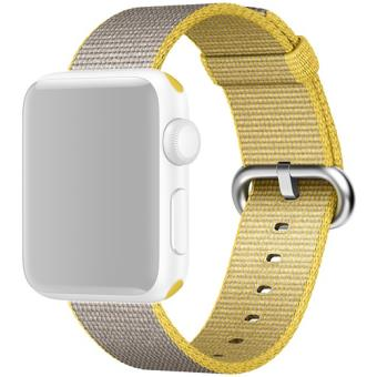 Bracelete Nylon Apple para Apple Watch 38mm - Amarelo | Cinzento Claro