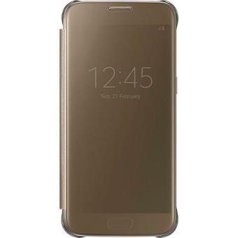 Samsung Capa Clear View para Samsung Galaxy S7 (Dourado)