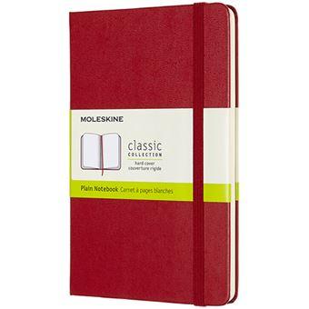 Caderno Liso Moleskine Médio - Vermelho