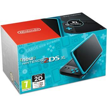 Consola New Nintendo 2DS XL (Preto + Azul Turquesa)