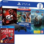 Consola Sony PS4 1TB - Gran Turismo: Sport + Uncharted: The Nathan Drake Collection + God OF War + Marvel Spider-Man PS4