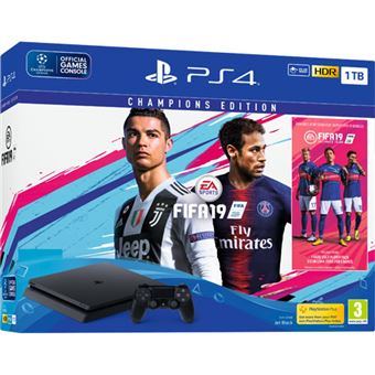 Consola Sony PS4 1TB + FIFA 19 Champions Edition