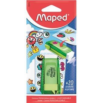 Borracha Personalizada Maped Stick Art  + de 20 Stickers