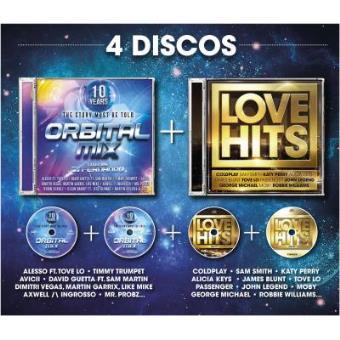 Pack Love Hits + Orbital 10 Anos (4CD)