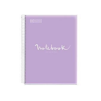 Notebook Pautado Miquelrius Emotions PP NB5, 120 Folhas - A4 Lavender
